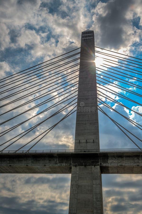 Penobscot verengt Brücke lizenzfreie stockfotografie