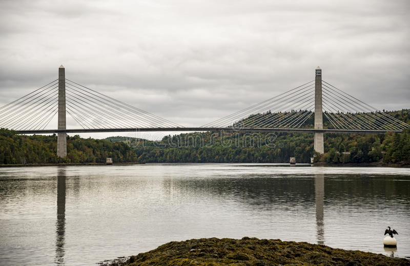 Penobscot verengt Brücke stockfotos