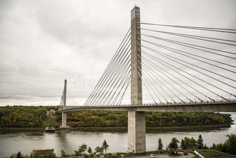Penobscot verengt Brücke lizenzfreies stockfoto