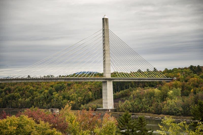 Penobscot verengt Brücke stockbild