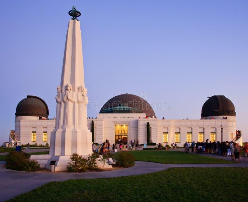 Penombra dell'osservatorio del Griffith immagini stock libere da diritti