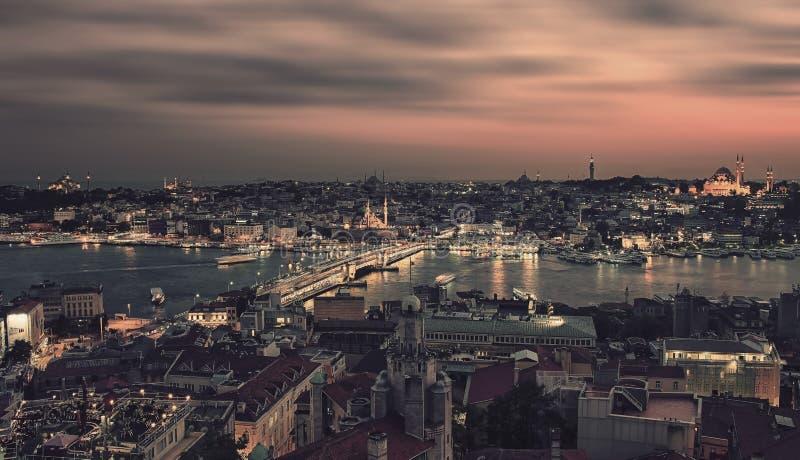 Penombra della città di Costantinopoli fotografie stock