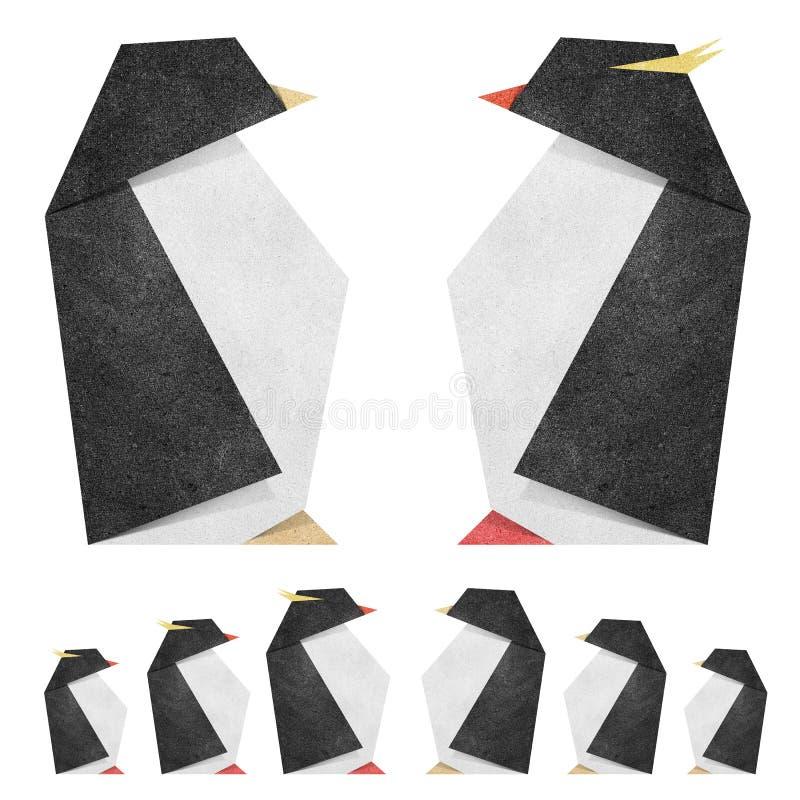 penquin papercraft origami рециркулирует иллюстрация вектора