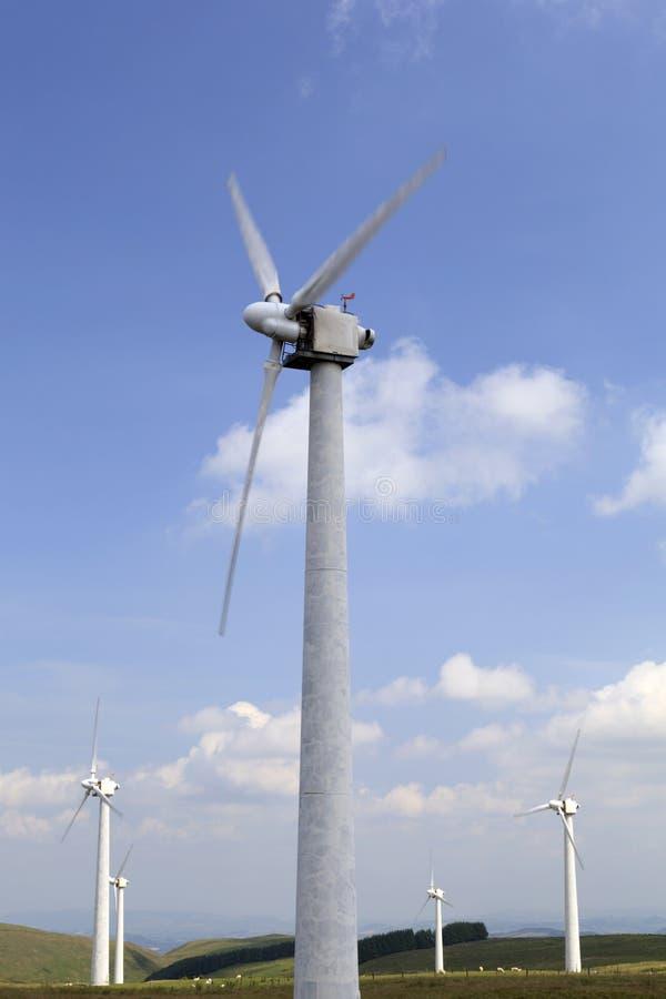 Penrhyddlan en LLidiartywaun-Windlandbouwbedrijf stock foto's