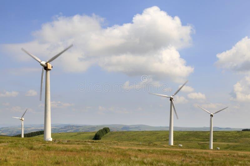 Penrhyddlan i LLidiartywaun Wiatrowy gospodarstwo rolne zdjęcie stock