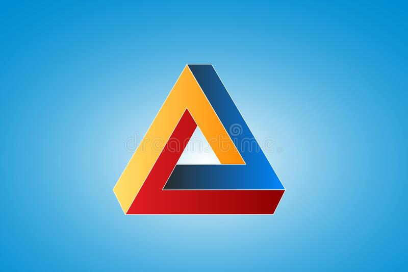 Impossible Triangle Stock Vector Illustration And Royalty Free Impossible  Triangle Clipart