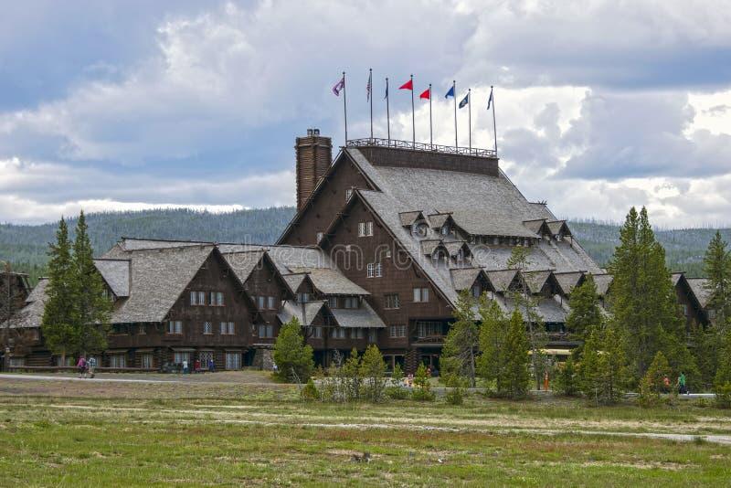 Pensão fiel velha, parque nacional de Yellowstone, Wyoming, EUA imagens de stock royalty free