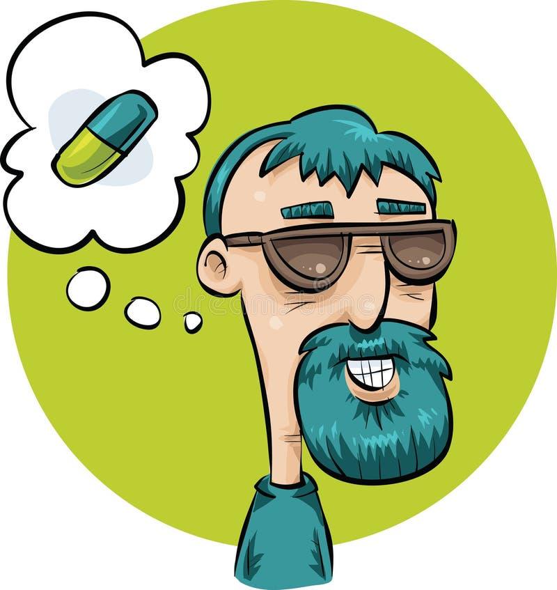 Pensée à la pilule illustration libre de droits
