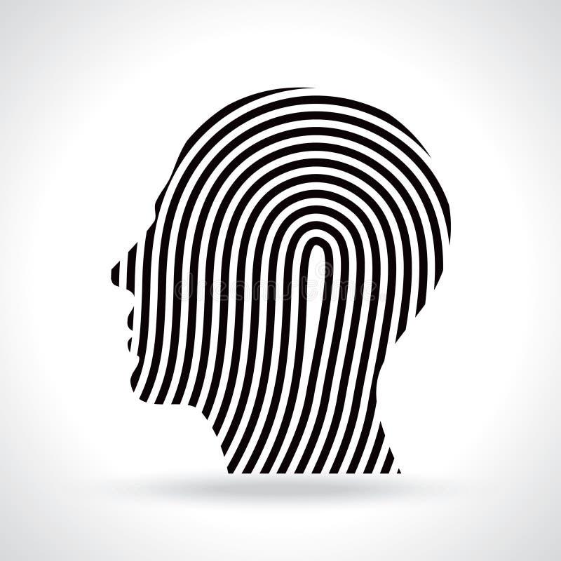 Pensée d'une création dans le concept noir et blanc illustration de vecteur