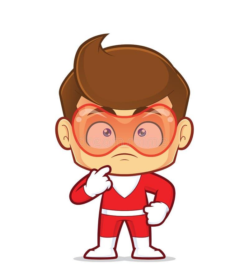 Pensée de super héros illustration stock