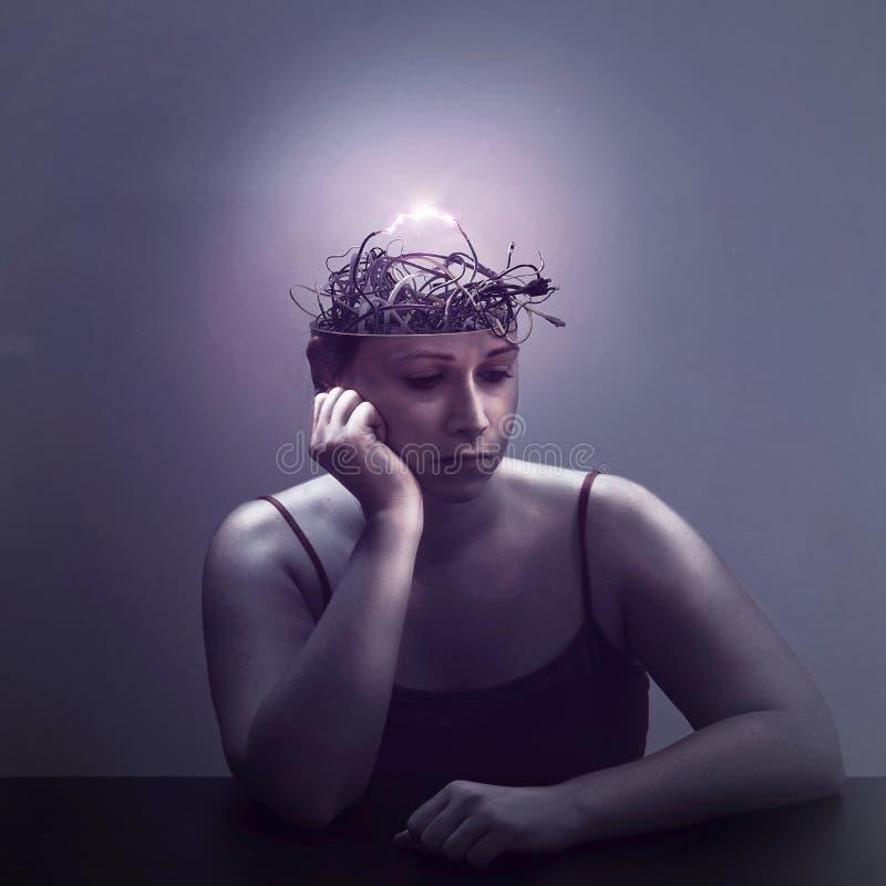 Pensées électriques photos libres de droits