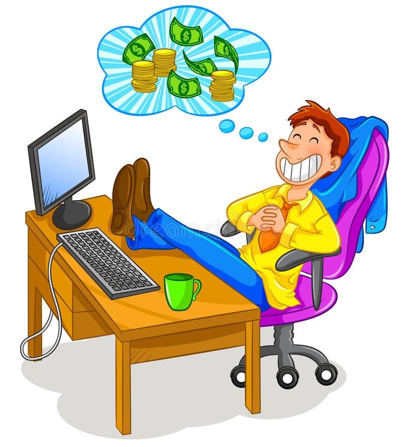 Pensées d'argent illustration de vecteur