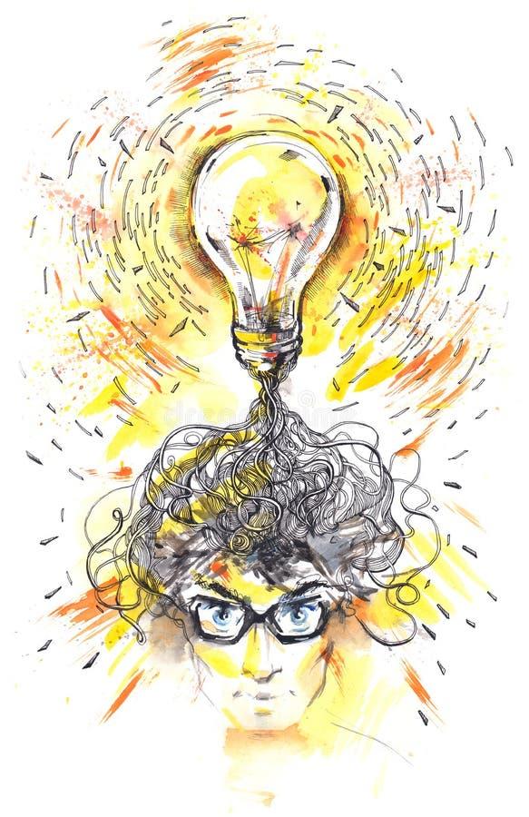 Pensées humaines illustration libre de droits