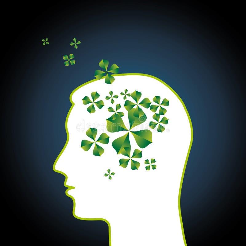 Pensées ou idées vertes originales illustration libre de droits