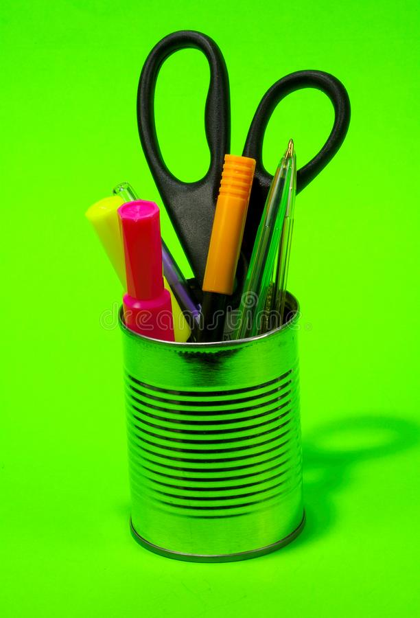 Pens in a Can stock photography