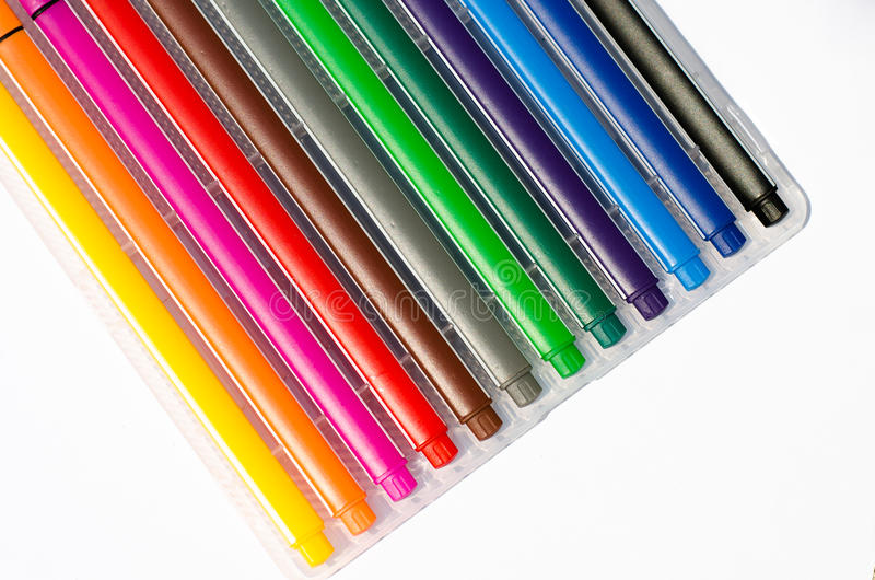 Pens. A Color of the pens stock photography