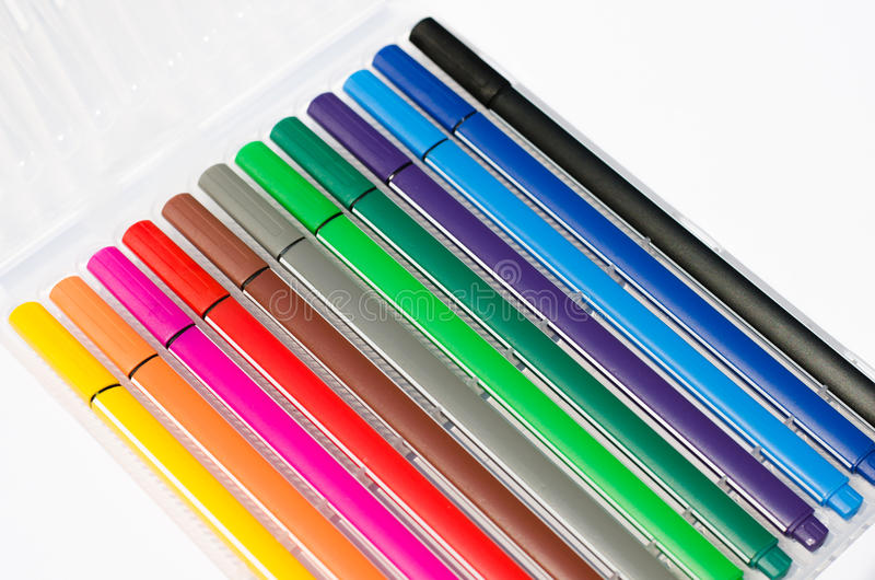 Pens. A Color of the pens royalty free stock image