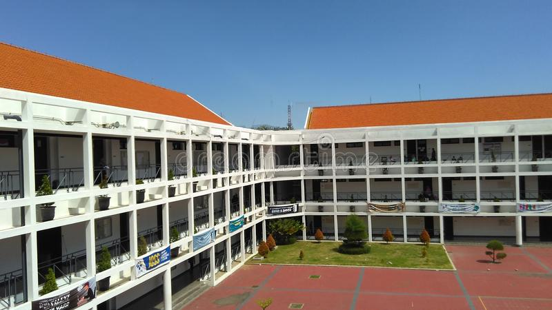 Polytechnic Building of PENS Indonesia royalty free stock image