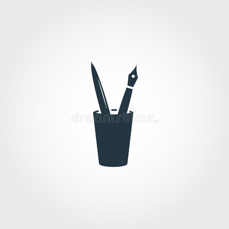 Pens icon. Premium monochrome design from education icon collection. Creative pens icon for web design and printing usage. Pens icon. Premium monochrome design stock illustration
