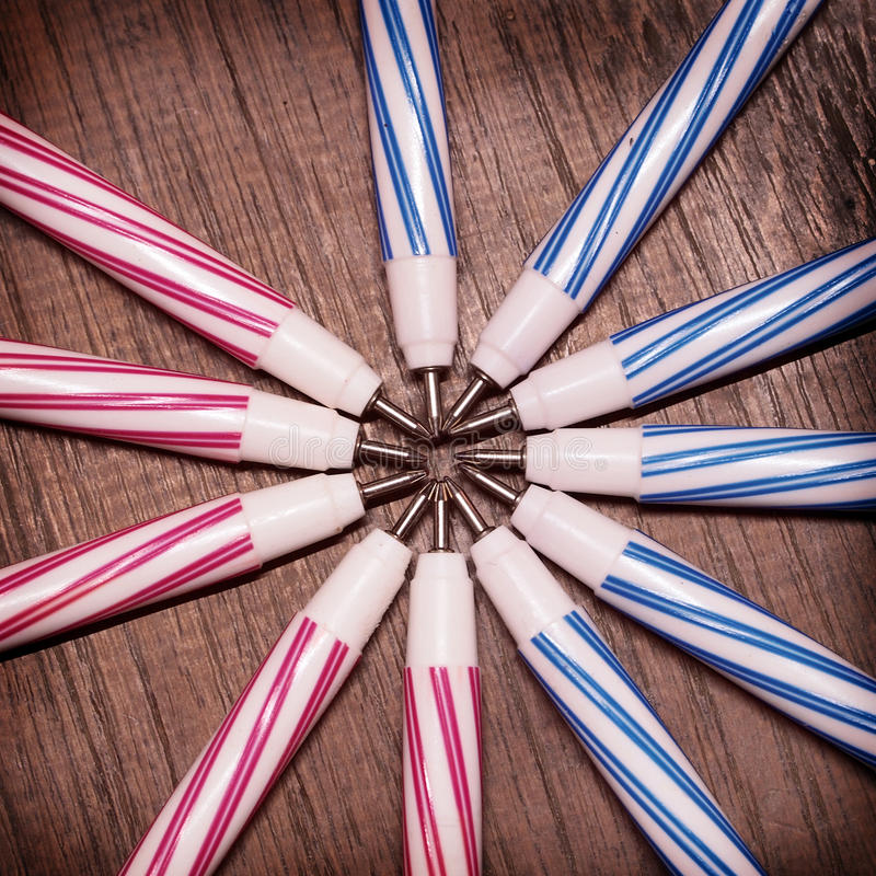 Pens old. Retro vintage style stock images