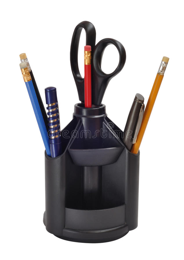 Pens and pencils stock photos