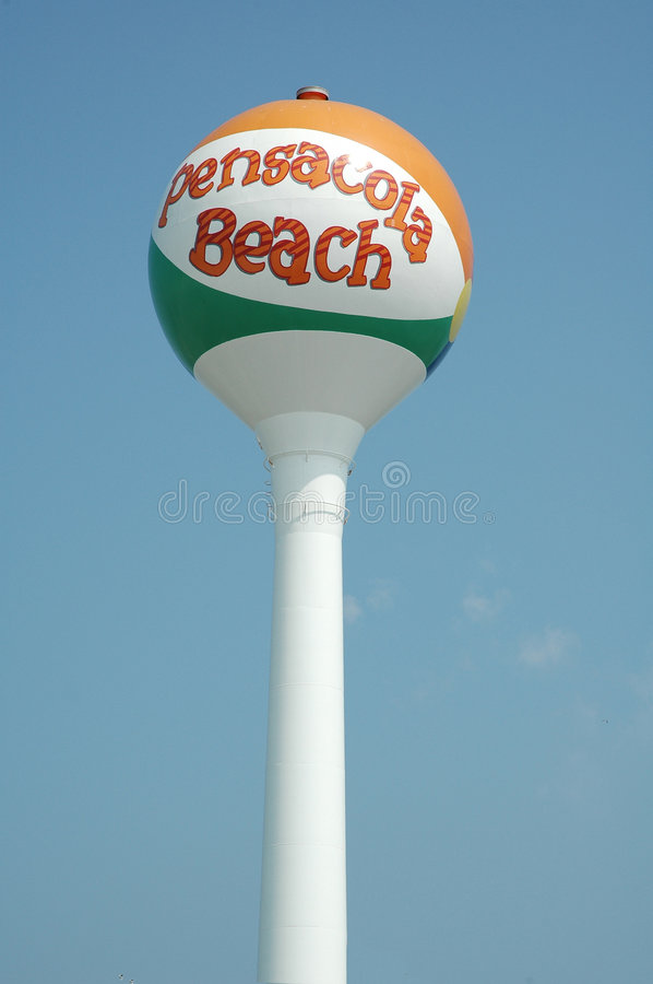 Pensacola Beach Ball stock photo