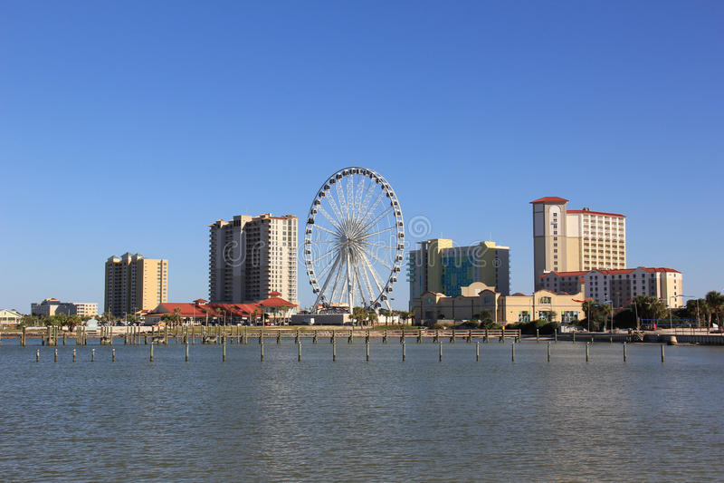 Pensacola Beach Skyline stock photo