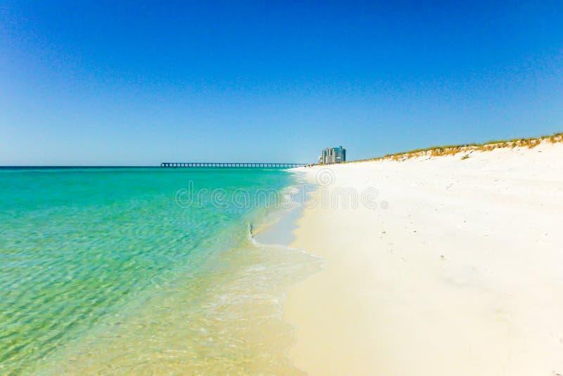 Pensacola na florydę na plaży zdjęcie stock
