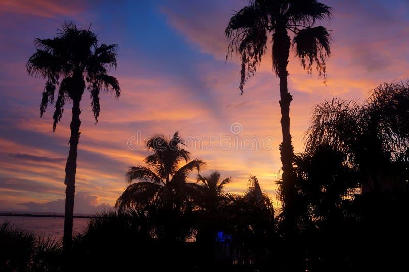 Pensacola-Sonnenuntergang stockfotografie