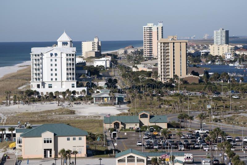Pensacola strand Gulf Coastbadorten royaltyfri bild