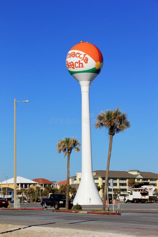 Pensacola-Strand-Wasserturm stockbilder