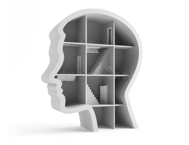 Pensado da pessoa. ilustração do vetor