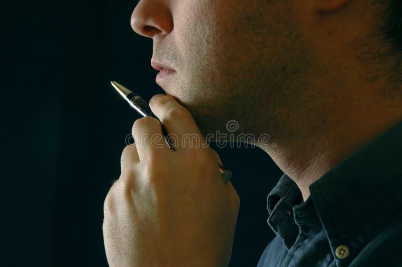 Download Pensador imagem de stock. Imagem de businessman, closeup - 56527