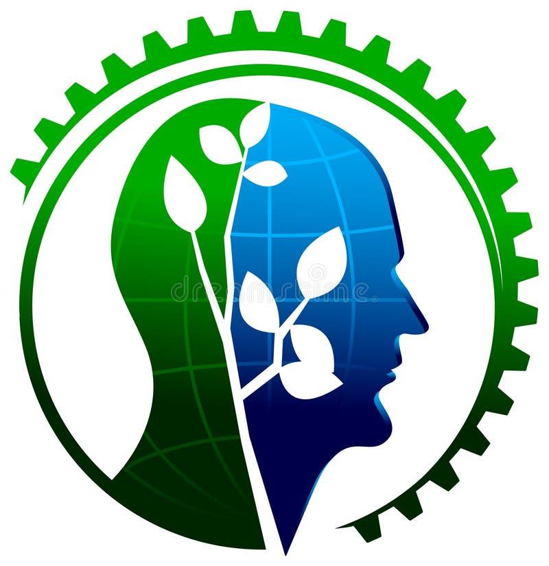 Pensamento ambiental ilustração stock