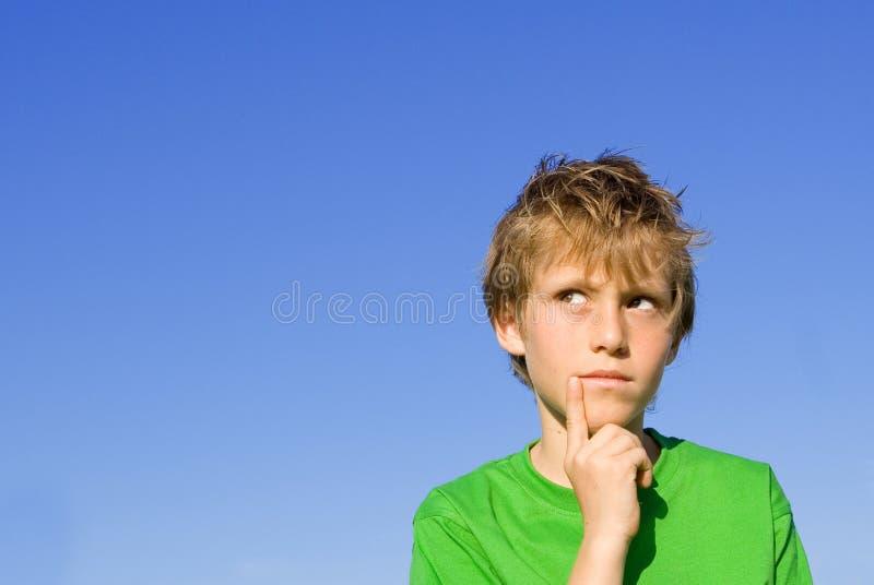 Pensamento da criança fotos de stock royalty free