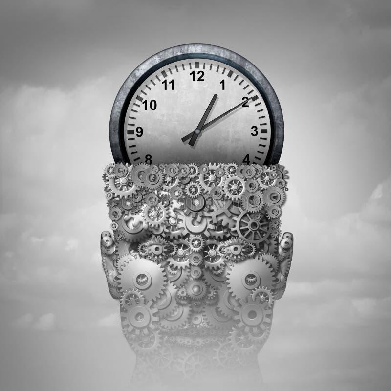 Pensamento da inteligência do tempo ilustração royalty free