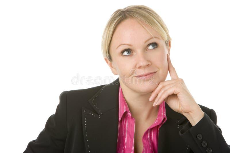 Pensamento da mulher de negócios fotos de stock royalty free