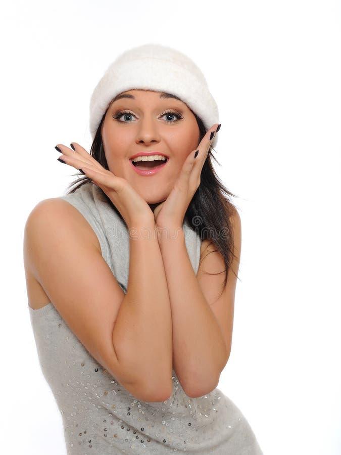 Download Pensamento Da Mulher Do Inverno De Expressions.Beautiful Foto de Stock - Imagem de grin, idéia: 16867252