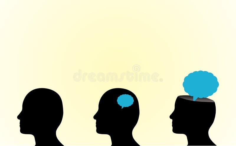 Pensamento da pessoa ilustração do vetor