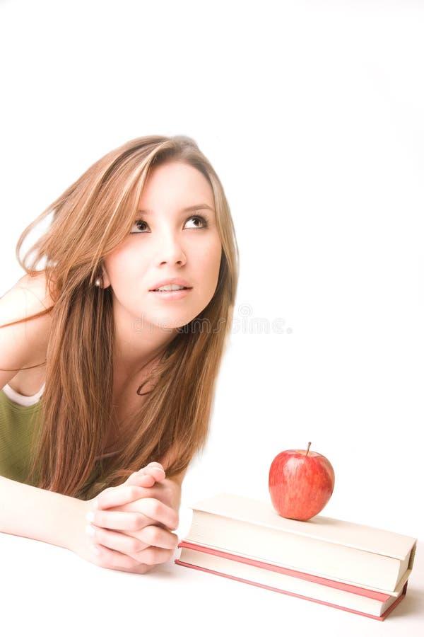 Download Pensamento do estudante imagem de stock. Imagem de concentração - 10063281