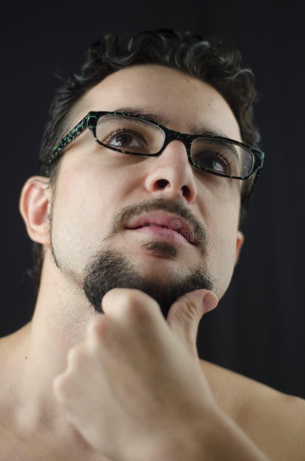 Pensamento do homem imagem de stock