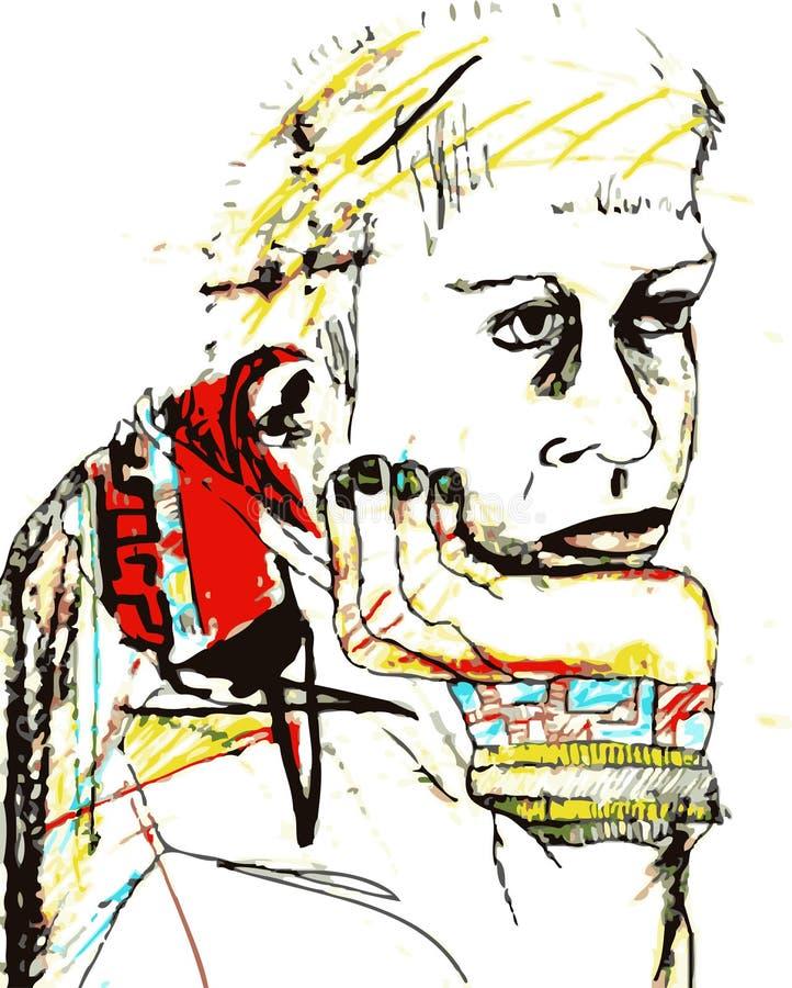 Pensamento do homem ilustração stock