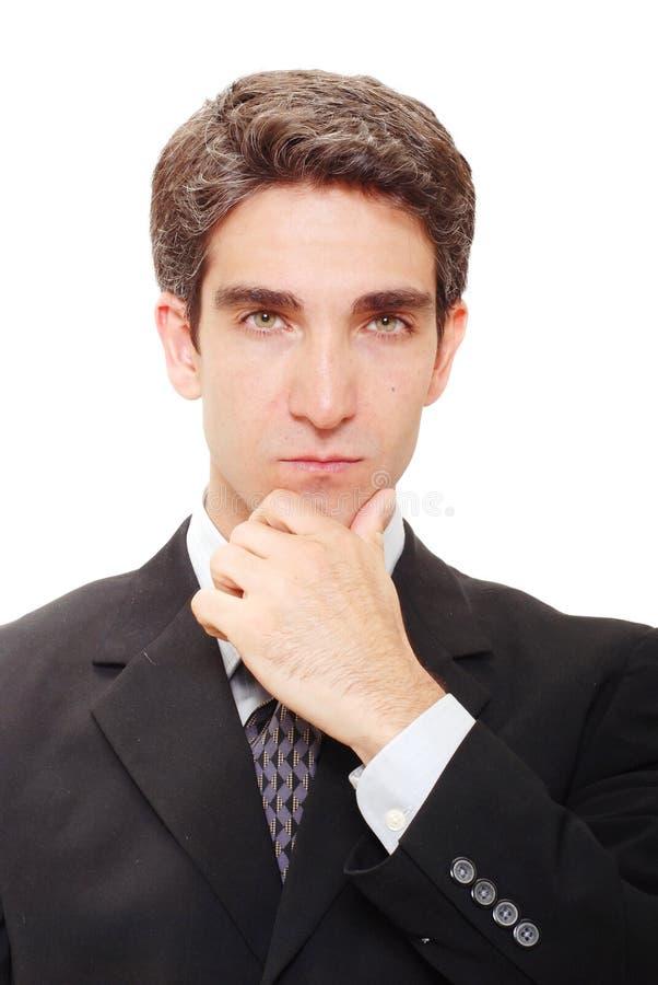 Pensamento do homem de negócios fotos de stock