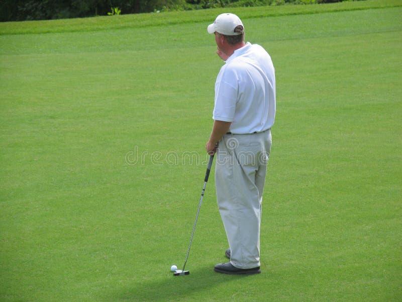 Pensamento Do Jogador De Golfe Fotografia Editorial
