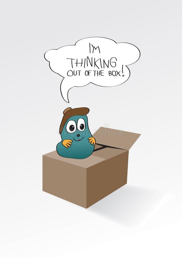 Pensamento fora da caixa ilustração stock