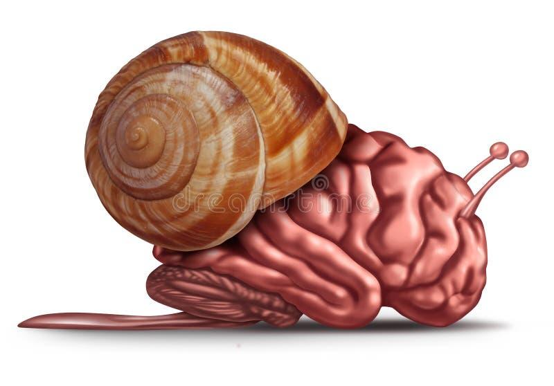 Pensamento lento ilustração stock