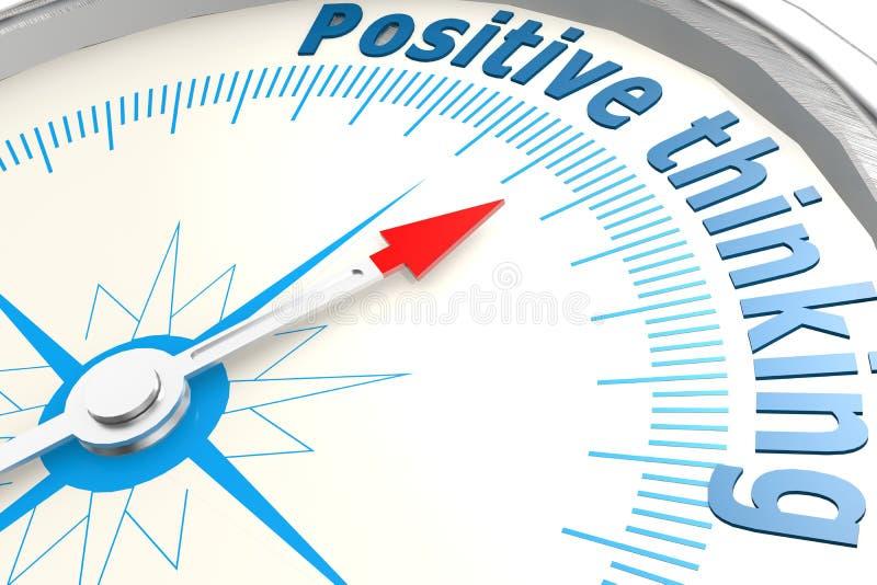 Pensamento positivo no compasso branco ilustração royalty free
