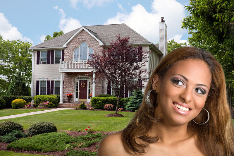 Pensamento sobre bens imobiliários imagens de stock royalty free