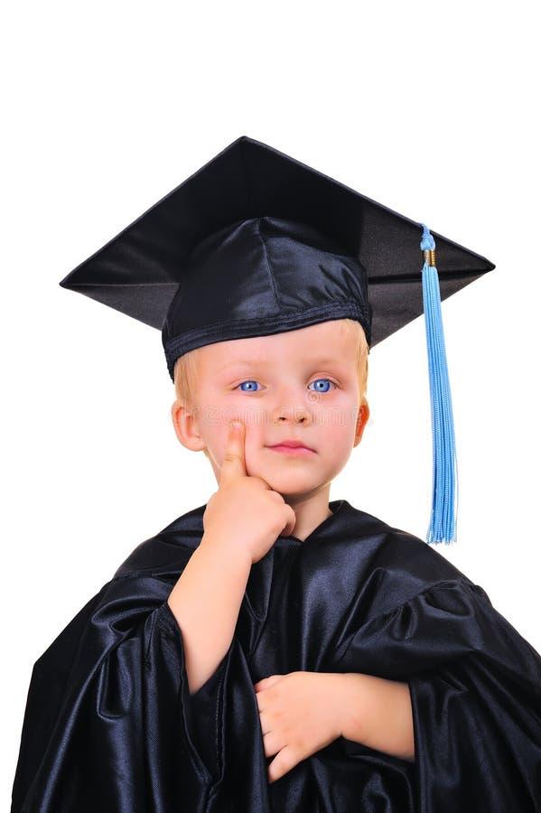 Pensamento sobre o futuro após a graduação foto de stock