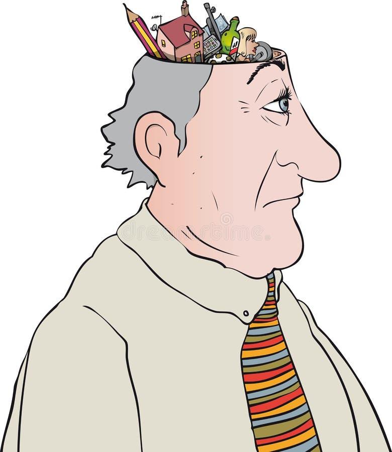 pensamentos ilustração royalty free
